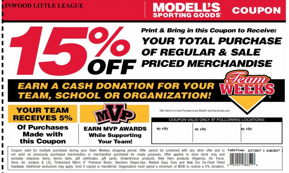 Modells Coupon Pic